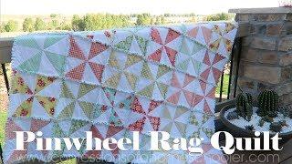 How to Make a Pinwheel Rag Quilt // TUTORIAL