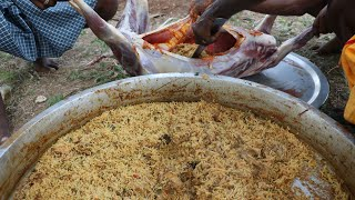 MUTTON inside CHICKEN BIRYANI prepared by my daddy Arumugam / Village food factory