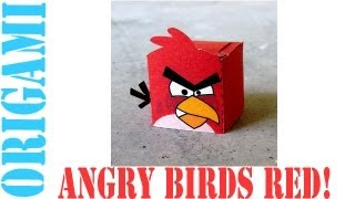 Popular Craft Projects - 012: Angry Birds Red Paper Toy (box Figure) - Tcgames [hd]