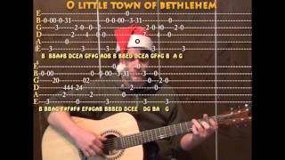 O Little Town of Bethlehem (Christmas) Solo Guitar Cover Lesson with TAB Arrangement