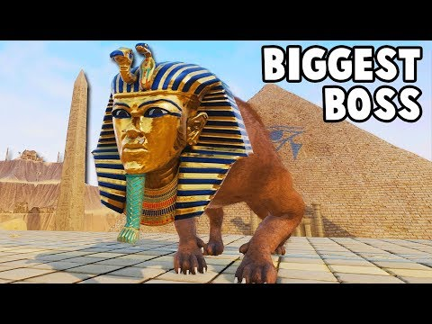 BIGGEST BOSS Yet!  Mighty Sphinx Duel in Ancient EGYPT (Rock of Ages 2 Gameplay Part 8)