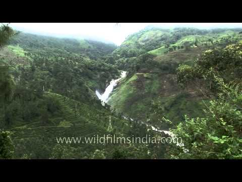 Attukal waterfall located in south India, Kerala