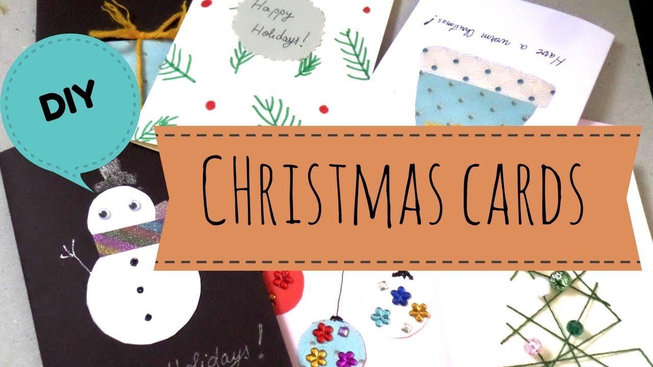 Diy easy handmade christmas cards holiday greeting card ideas for diy easy handmade christmas cards holiday greeting card ideas for kids 2017 by fluffy hedgehog m4hsunfo