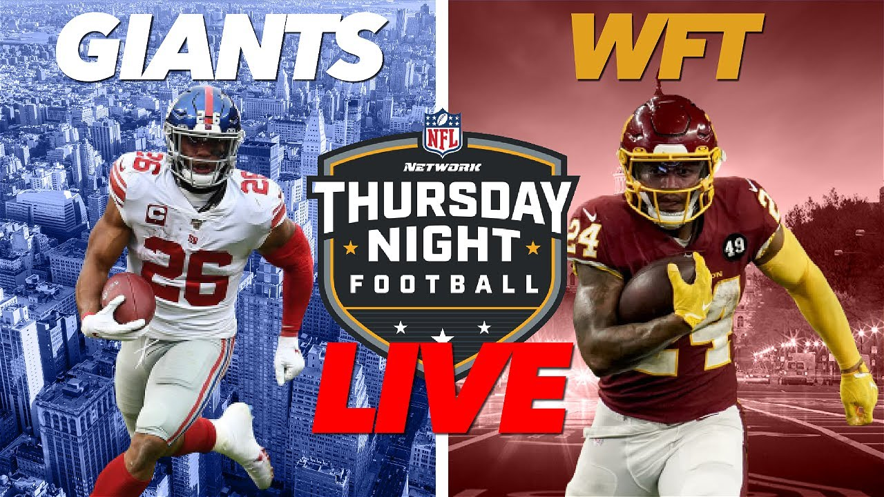 Giants head to Washington for Thursday Night Football in Week 2