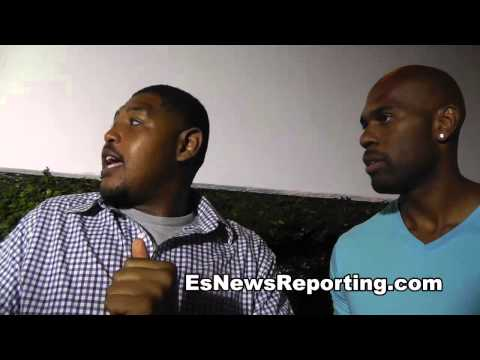 8 mile actor omar miller and wwe stars on mayweather vs maidana 2 EsNews