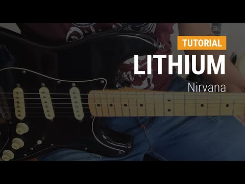 Como tocar Lithium de Nirvana en guitarra CLASE TUTORIAL COMPLETA
