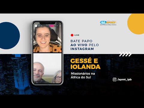LIVE APMT com Gessé e Iolanda | Missionários na África do Sul