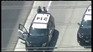 Police chase -  Suspect runs out of gas