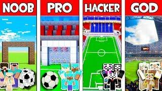 Minecraft NOOB vs PRO vs HACKER vs GOD : FAMILY FOOTBALL in Minecraft! Animation