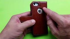 iPhone 5/5s/SE Premium Leather Wallet Case Review (OCASE)