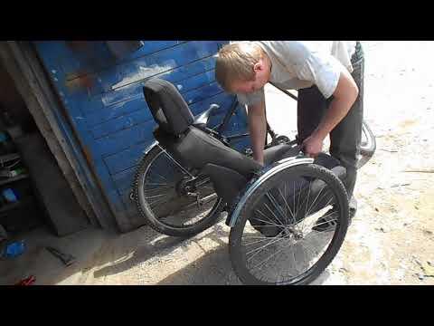 велосипед с коляской часть 2