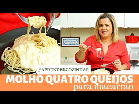 Molho 4 Queijos para Macarrão Superfácil - pode fazer no microondas ou no fogão