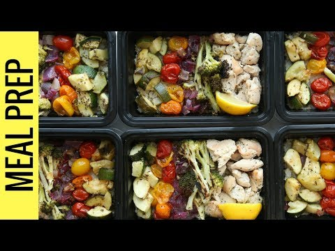 Easy Chicken Meal Prep For Beginners | Chicken, Rice, and Veggies Recipe For Weight Loss