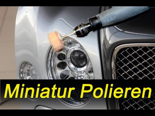Polierscheibe Mini -  Do it yourself - kleine Ecken polieren