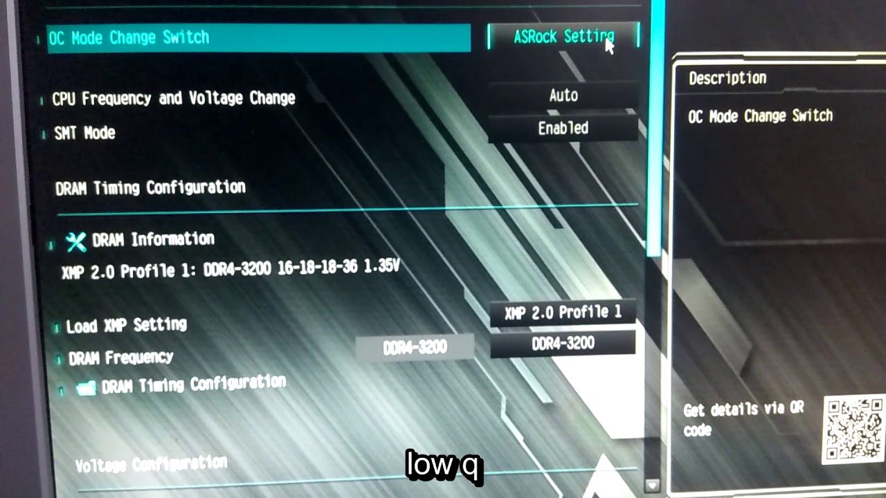 Setting RAM speed above default on Asrock B450 motherboard