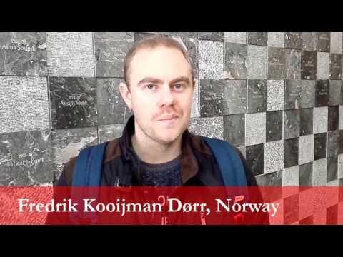 Fredrik Kooijman Dørr, student from Norway at the University of Ljubljana