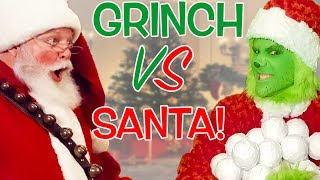 The Grinch vs Santa Claus! Snowball Showdown! Ninja Style!
