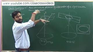 Brief Introduction of Conic Sections | CBSE Class 11 NCERT Maths Ex 11.1 intro (part 1)