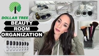 DOLLAR STORE BEAUTY ROOM ORGANIZING IDEAS