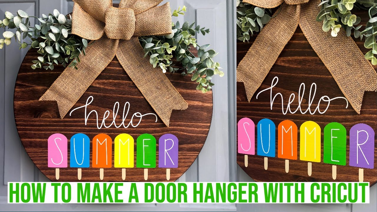 How To Make A Door Hanger With Cricut Youtube