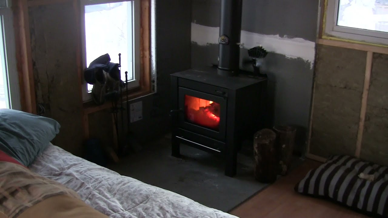 Tiny Cabin Update, Small Wood Stove - Tiny Cabin Update, Small Wood Stove - YouTube