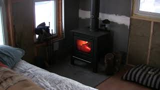 Tiny Cabin Update, Small Wood Stove & Insulation