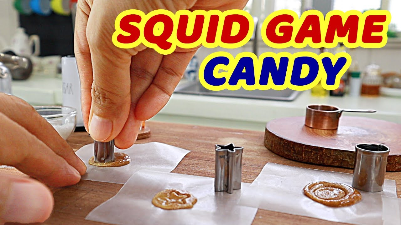 [DIY] HOW TO MAKE DALGONA CANDY SQUID GAME CHALLENGE [ASMR] MINIATURE COOKING BY MINIATURE CUSINA