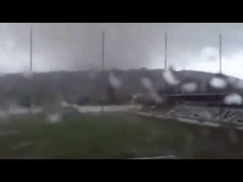 Tornado Destroys Football Stadium