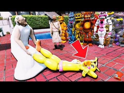 GRANNY & GRANDPA CAPTURE ALL THE ANIMATRONICS! (GTA 5 Mods For KIds FNAF RedHatter) thumbnail