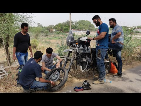 OFFROADING !! Gone Wrong on My Royal Enfield Himalayan