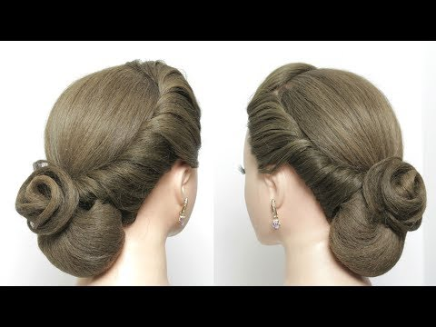 Easy Elegant Bun Hairstyle For Long Hair Tutorial