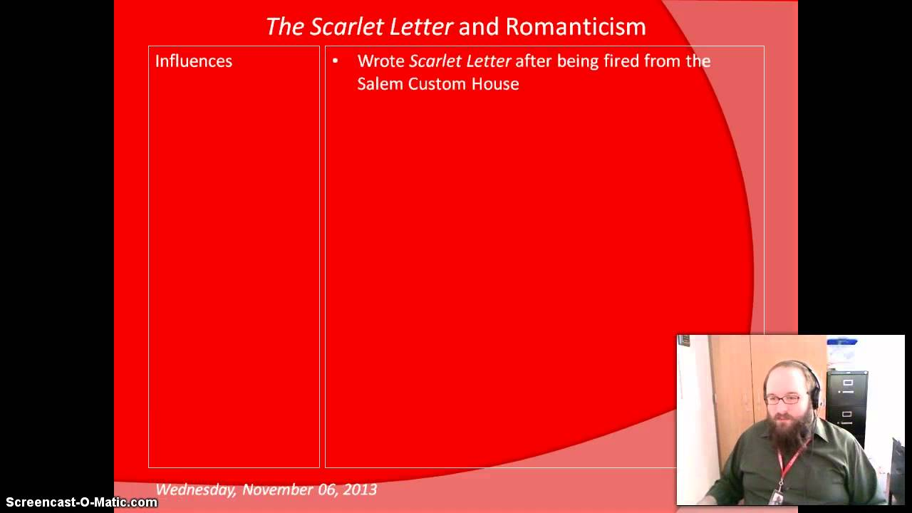 romanticism scarlet letter