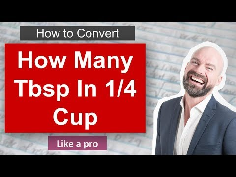 ✅ How Many Tbsp In 1 4 Cup