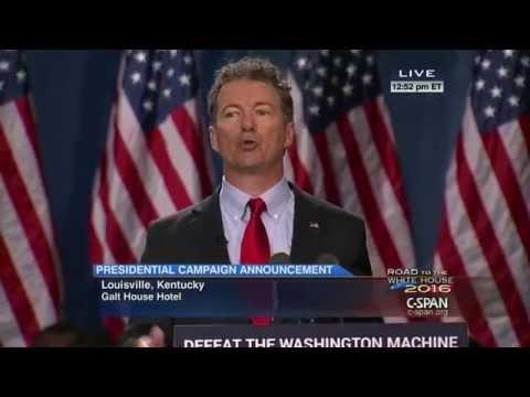 Senator Rand Paul Presidential Campaign Announcement clip (C-SPAN)