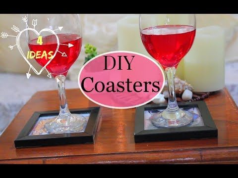 4 ideas to make COASTERS at home using Waste/DIY Home Decor