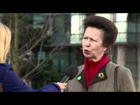 The Princess Royal plants a tree in the Blue Peter garden