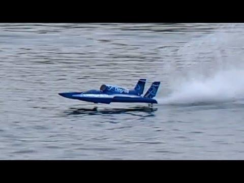 RC Hydroplane Powerboat 130 Kmh Speedboat Überschlag Modelship Crash Edderitz 2015 *1080p50fpsHD ...