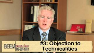The 3 Most Common Rejections and Objections of Patents - Chicago Patent Attorney Rich Beem Explains