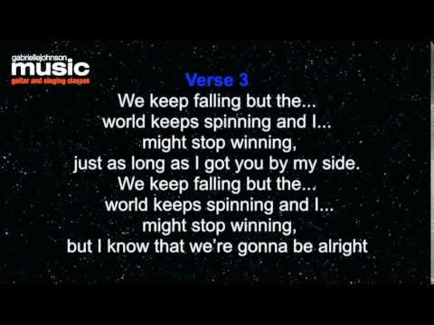 Que Sera Justice Crew (original key) Lyric Video with backing track & intro clicks