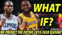 WHAT IF We PREDICT the ENTIRE 2019-2020 NBA Season? | FULL CINEMATIC SIMULATION