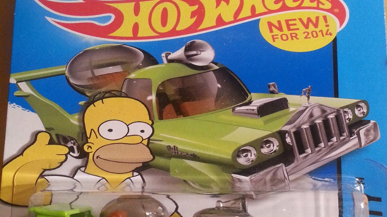 Homer Car: The Homer From The Simpsons! Hot Wheels 2014 New Models