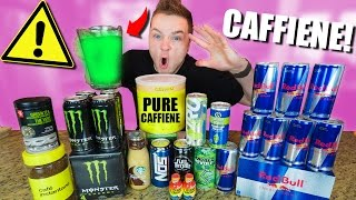 MAKING THE STRONGEST ENERGY DRINK IN THE WORLD CHALLENGE!!! 1000% Caffeine *EXTREMELY DANGEROUS* thumbnail