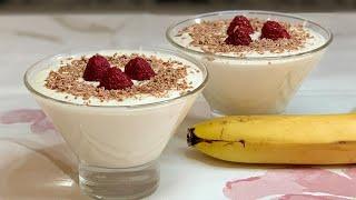 Нежнейший творожно-банановый десерт за 3 минуты