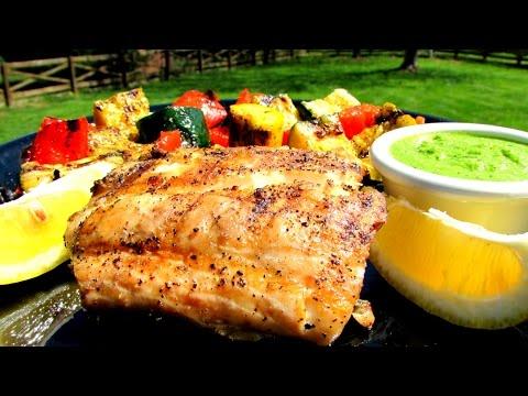 Grilled Rockfish With Lemon Basil Pesto - Striped Bass Recipe