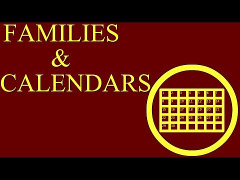 Families & Calendars