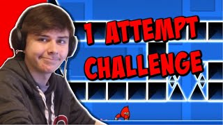 1 ATTEMPT CHALLENGE IN GEOMETRY DASH! (Recent Levels) | ChrisCredible