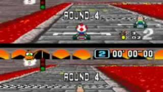 Super Mario Kart SNES Flower Cup 150cc xotic vs duffjr - HIGH SKILL