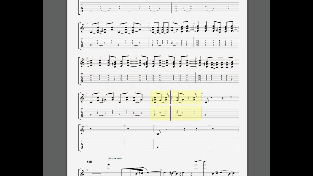 ACDC Heatseeker Lead Guitar Tab - YouTube