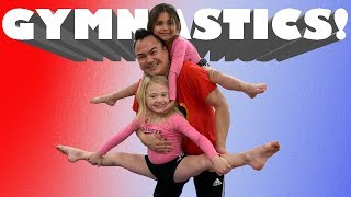 GYMNASTICS LESSONS WITH EVERLEIGH AND AVA!!
