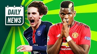 Adrien Rabiot to Barcelona + Paul Pogba isn't happy at Manchester United ► Daily Football News